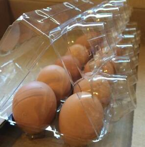 Chicken Egg Cartons Clear Plastic Tri fold Holds One Dozen Large Pack Of 75