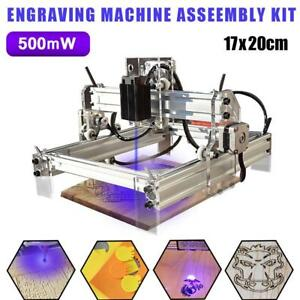 Diy Mini Laser Engraving Machine Desktop Wood Pvc Logo Marking Printer 500mw Kit