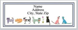 Personalized Address Labels Colorful Cats Buy 3 Get 1 Free bx 322