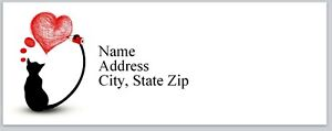 Personalized Address Labels Cat Drawing A Heart Buy 3 Get 1 Free bx 342