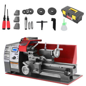 Us Brush Motor Mini Metal Lathe Woodworking Tool Milling Bench Top Machine
