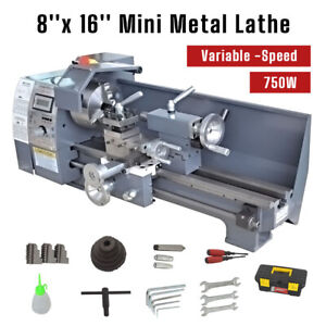 750w 8 16 variable speed Highquality Mini Metal Lathe Bench With Digital Control