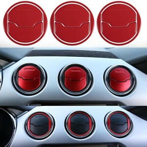 9pc Interior Dashboard Air Outlet Vent Cover Trim For 2015 2018 Ford Mustang ya