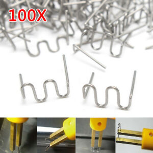100pcs 0 8mm Staples Hot Stapler Bumper Fender Weld Gun Plastic Repair Kits Tool