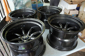 Jdm 15 Gunmetal Staggered Wheels 240z Watanabe Rs Banana Z31 S30 Ae86 S31 Rkr