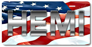 Hemi American Flag Novelty Vanity Car Auto Truck License Plate Tag Gift Dad