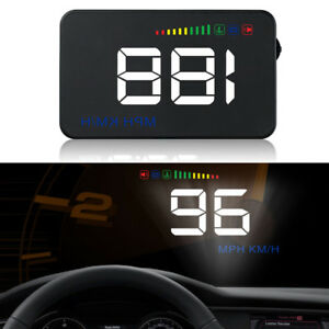 3 5 Car Hud Head Up Display Rpm Speed Voltage Warning Obd2 Interface