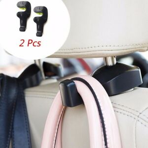 2pcs Vehicle Universal Car Back Seat Headrest Hanger Holder Hook For Bag Purse