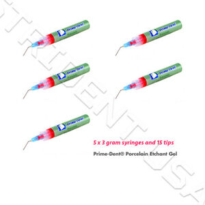 Prime Dent Porcelain Etch Gel 10 Hydrofluoric Acid Gel 5 3 Gm Syringes 008 050
