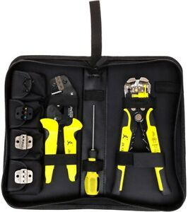 Multifunctional Ratchet Crimping Tool Wire Strippers Terminals Pliers Kit