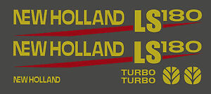 New Holland Ls180 Skid Steer Decal Kit For Your Loader Ls 180 Free Shipping