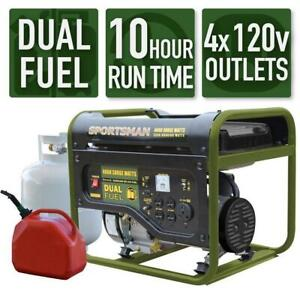 Sportsman 4000w 7 Hp Portable Dual Fuel Gas Generator Home Rv Camping Tailgating