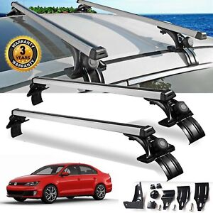 For Vw Jetta Sedan Luggage Crossbar Roof Rack Carrier Window Frame clamp 48 inch