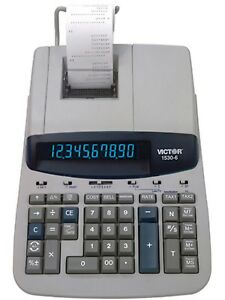Victor Professional Heavy duty Calculator 1530 6 With Xl Display New