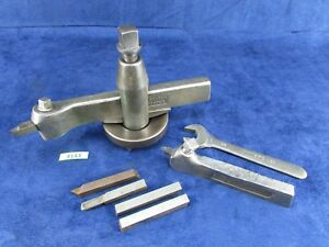 Vintage 13 To 16 Lathe Lantern Tool Post Set W Tooling Wrench 4143