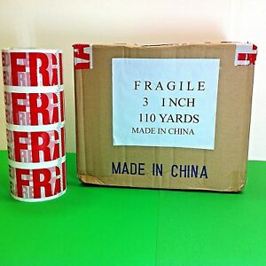 Fragile Handle With Care Pre printed Packing Tape 3 X 110 Yd 330 Ft 2 Mil