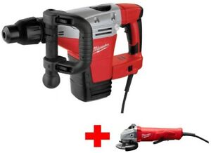 Milwaukee Demolition Hammer Drill Sds Max With Free 11 Amp 4 1 2 Angle Grinder