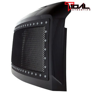08 10 Ford Super Duty F250 F350 Grille Rivet Black Stainless Steel Mesh W shell
