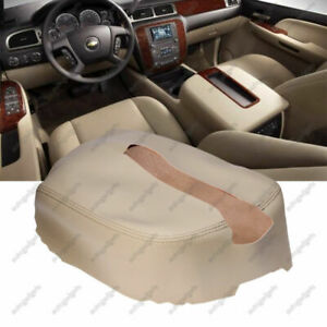 Leather Console Lid Armrest Cover For 07 13 Chevy Tahoe Suburban Yukon Tan New