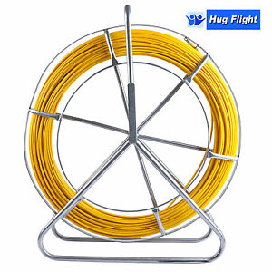 Fish Tape Fiberglass Wire Cable Rod Duct Rodder Fishtape 6mm 130m Ce