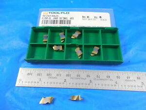 8 Pcs New Tool Flo Tf24739 Fltbp 2l 040p 30 Incl Gp3 Carbide Top Notch Inserts