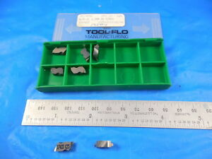 7 Pc New Tool Flo Tf17433g Fltp 2l 6 5mm Bn Screw C25 Carbide Top Notch Inserts