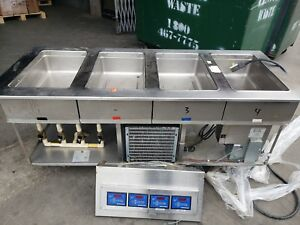 Low Temp Industries lti Hot And Cold Steam Table Drop In 4 Well Chp 4 1373