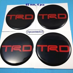 New Reflect Resin Wheel Center Caps Stickers For Trd 65 Mm Decor Emblem