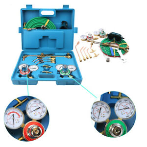 Gas Welding Cutting Welder Kit Victor Oxy Acetylene Oxygen Torch W 15 Blue