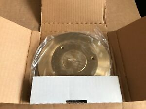 Hubbell Sf2925 Scrubshield Floor Box Combo Cover Carpet Flange Brass Nos