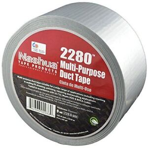 Nashua 2280 Silver Duct Tape Bulk Pack Full Case 72mm X 55m 16 Rolls