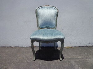 French Chair Vanity Seating Italian Country Provincial Hollywood Regency Stool