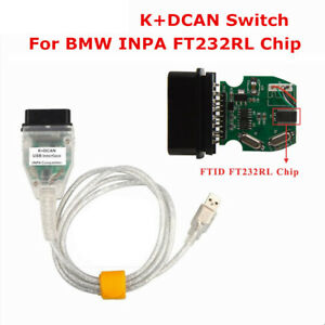 Inpa K Dcan Usb Interface Obd2 Obdii 16 Pin Car Diagnostic Tool Cable For Bmw Hq
