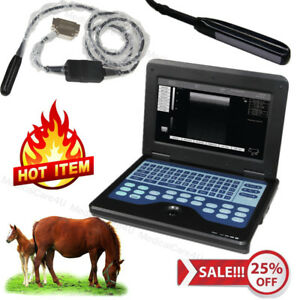 Portable Ultrasound Scanner Veterinary Machine 7 5m Rectal Probe Horse cow sheep