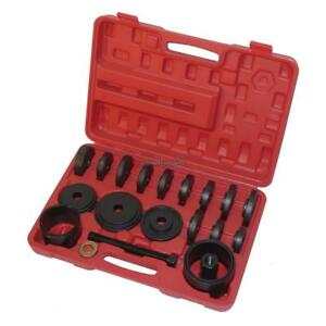 23 Front Wheel Bearing Press Kit Removal Adapter Puller Pulley Tool Kit W Case