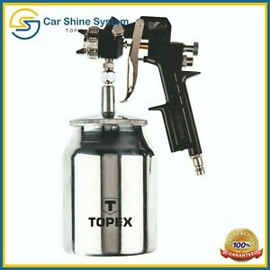 Air Compressor Paint Spray Gun Hvlp Car Truck Sprayer 750ml Free Paint Filter