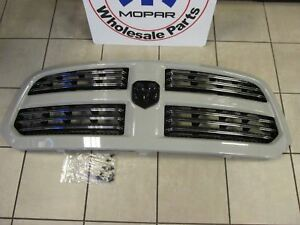 Dodge Ram 1500 Sport Grill Assembly Unpainted With Black Ram Emblem Oem Mopar
