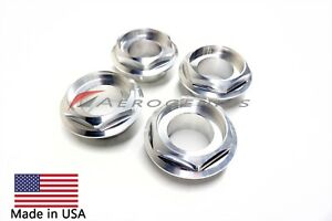 Bbs Rs Rsii Cnc Hex Caps Made In Usa Half Height Large Thread set Of 4