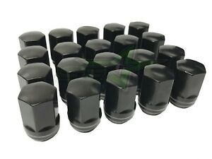 20 Oem Factory Style Black Lug Nuts 14x1 5 For Chevy Ford Dodge Cars