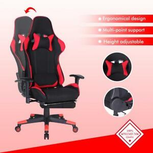 High Back Executive Racing Gaming Rocker Chair Reclining Office Chair W footrest