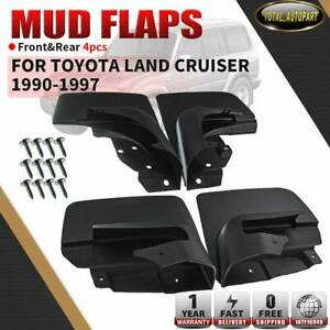 Set Of 4 Mud Flaps Fit For 1990 1997 Toyota Land Cruiser Splash Guards 80 Series