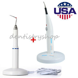 Dental Gutta Percha Obturation System Endo Heated Pen 2 Tips gutta Percha Cutter