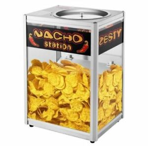 Nacho Station Chip Warmer Top Loaded Commercial Grade Tempered Glass