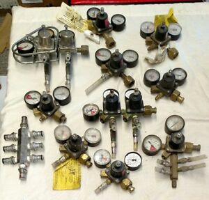 Huge Lot Cornelius Dual Gauge Pl 100 Pl 160 857 a Used Co2 Regulators Parts