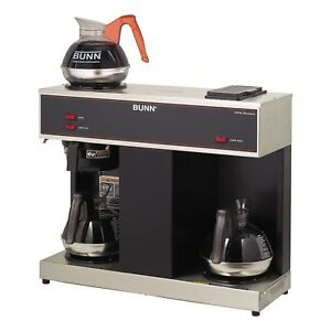 12 Cup Coffee Commercial Brewer With 3 Warmers Bunn Vpr Stainless Steel Black
