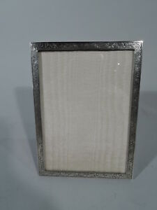 Old Fashioned Frame Picture Photo Traditional English Sterling Silver 1953