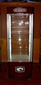 Costa Led Lighted Display Cabinet Euc