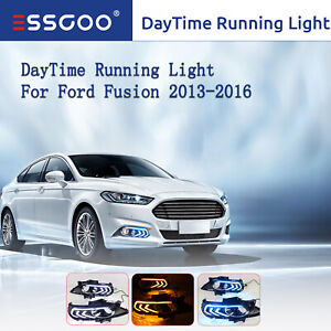 For Ford Fusion 13 16 Leds Drl Daytime Running Fog Driving Light Replacement Us