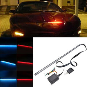 56cm 48led Rgb Car Auto Scanner Knight Rider Strobe Flash Light Strip Remote