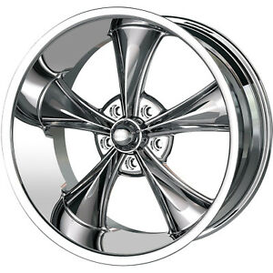 20x10 Chrome Ridler Style 695 Wheels 5x4 75 0 Lifted Chevrolet Gmc Jimmy